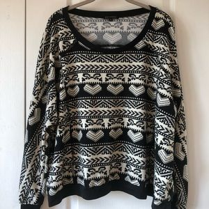 Patterned Crew Neck